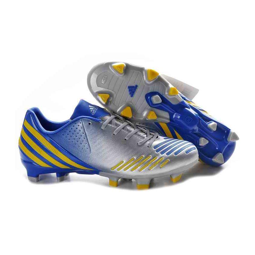 huge discount 93b62 dd156 Adidas Predator LZ TRX FG Football Boots - Silver Blue