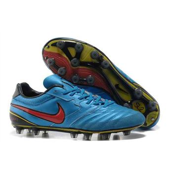 2013 Nike SUPERLIGERA HG Football Boots - Blue Red