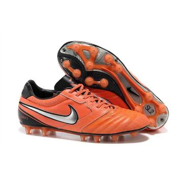 2013 Nike SUPERLIGERA HG Football Boots - Black Orange