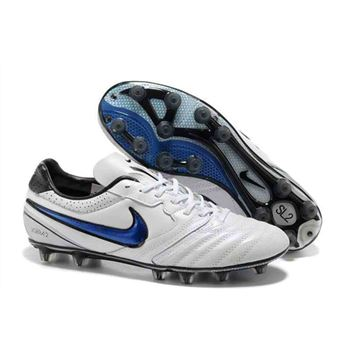 2013 Nike SUPERLIGERA HG Football Boots - White Blue