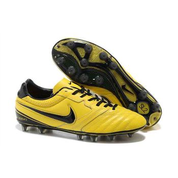2013 Nike SUPERLIGERA HG Football Boots - Yellow Black