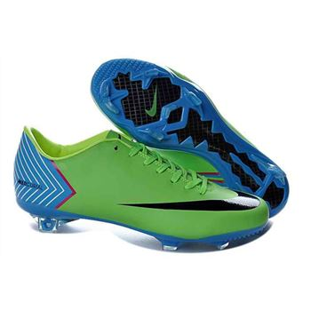 Nike Mercurial Vapor X FG Football Boots - Green Blue