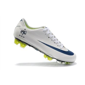 France Nike Mercurial Vapor Superfly III FG - White Blue