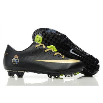 Real Madrid Home Club Nike Mercurial Vapor Superfly III FG - Black Gold