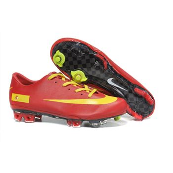 Spain Nike Mercurial Vapor Superfly III FG - Red Yellow