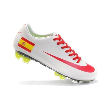 Spain Nike Mercurial Vapor Superfly III FG - White Red