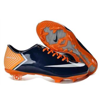 Nike Mercurial Vapor X FG Football Boots - Deep Blue Orange