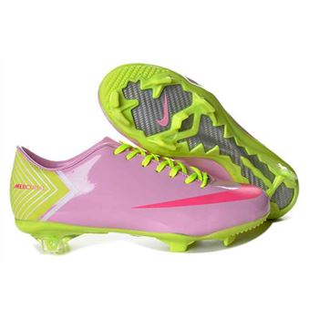 Nike Mercurial Vapor X FG Football Boots - Pink Red Green