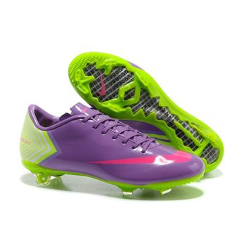 Nike Mercurial Vapor X FG Football Boots - Purple Pink Green