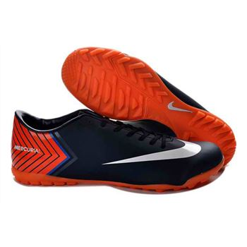 Nike Mercurial Vapor X TF Football Boots - Deep Blue Orange