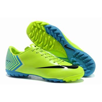 Nike Mercurial Vapor X TF Football Boots - Green Blue