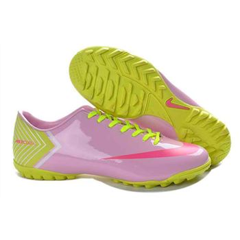Nike Mercurial Vapor X TF Football Boots - Pink Red Green