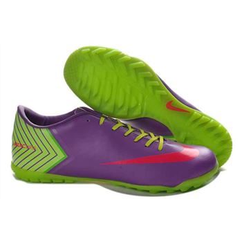 Nike Mercurial Vapor X TF Football Boots - Purple Green