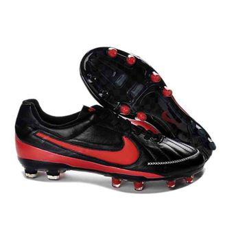Nike Tiempo Legend V FG - Soccer Cleats - Black Red
