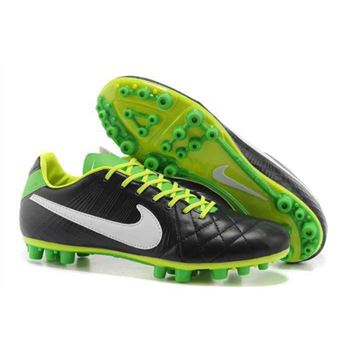 Nike Tiempo Legend IV Elite AG - Soccer Cleats - Black White Green
