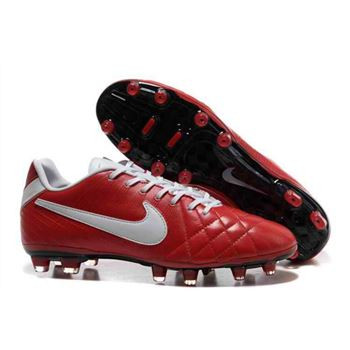 Nike Tiempo Legend IV Elite FG - Soccer Cleats - Red-White