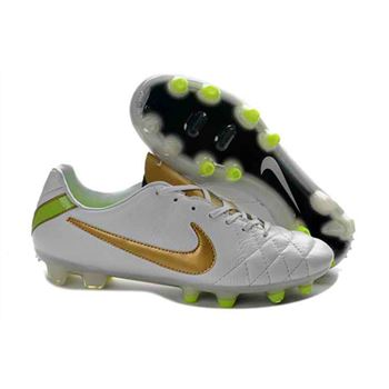 Nike Tiempo Legend IV FG - Soccer Cleats - White Gold