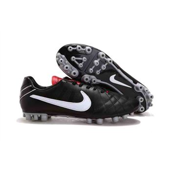 Nike Tiempo Mystic IV AG - Soccer Cleats - Black White Red