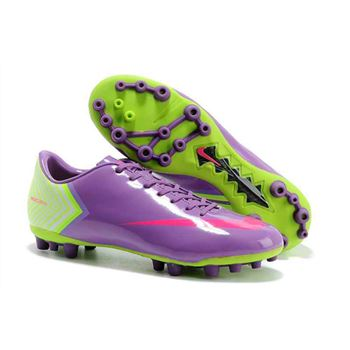 Nike Drop 15 Pairs Of Super Ltd Edition MVIX R9 Chrome - Purple Fluorescent Green