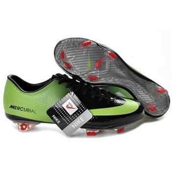 Nike Mercurial Vapor IX FG Football Boots - Black Green