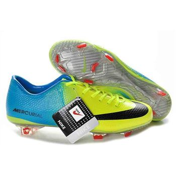 Nike Mercurial Vapor IX FG Football Boots - Green Blue