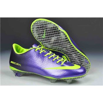 Nike Mercurial Vapor IX FG Football Boots - Purple Green