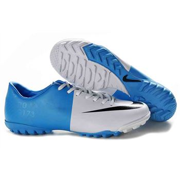 Euro 2012 Nike Mercurial Vapor VIII TF Football Boots - White Blue