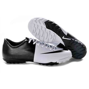 Euro 2012 Nike Mercurial Vapor VIII TF Football Boots - White Black
