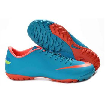Nike Mercurial Victory VIII TF Football Boots - Blue Orange Red