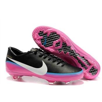 5b8952681 Nike Youth CR7 Mercurial Victory III FG Soccer Cleats - Black White Pink