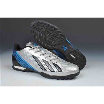 Adidas F50 Adizero TRX TF Soccer Cleats - Silver Black Blue