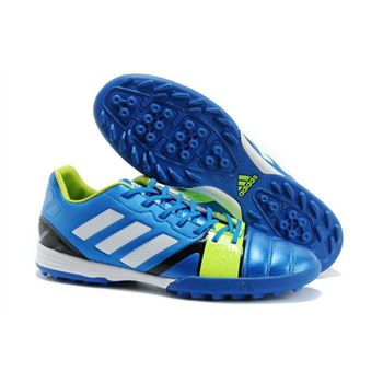 Adidas Nitrocharge 1.0 TRX TF Soccer Shoes - Blue Green White