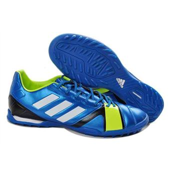 Adidas Nitrocharge 1.0 TRX Transparent Bottom TF Soccer Shoes - Blue Green White