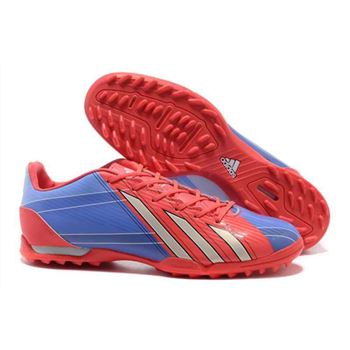Adidas F50 Adizero TRX TF Soccer Cleats - Red Blue
