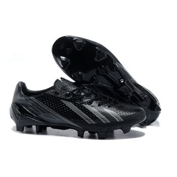 Adidas Adizero F50 Metallic TRX FG Leather - Black Silver