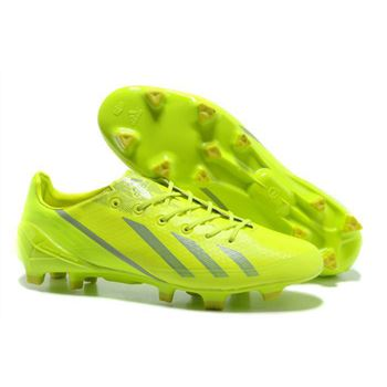 Adidas Adizero F50 Metallic TRX FG Leather - Fluorescent Green Silver