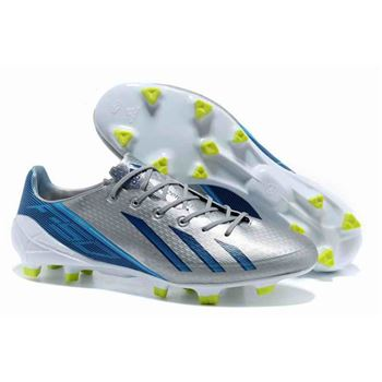 Adidas Adizero F50 Metallic TRX FG Leather - Silver Blue