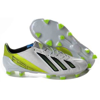 Adidas F50 Adizero miCoach Leather FG - White Green